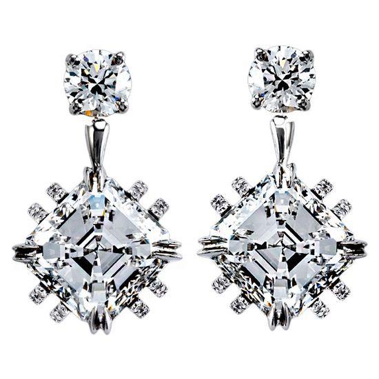 Ascher-Cut Diamond Earrings  $330,000