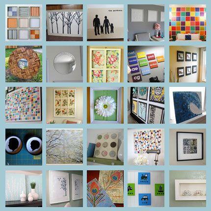 25 wall art ideas DIY