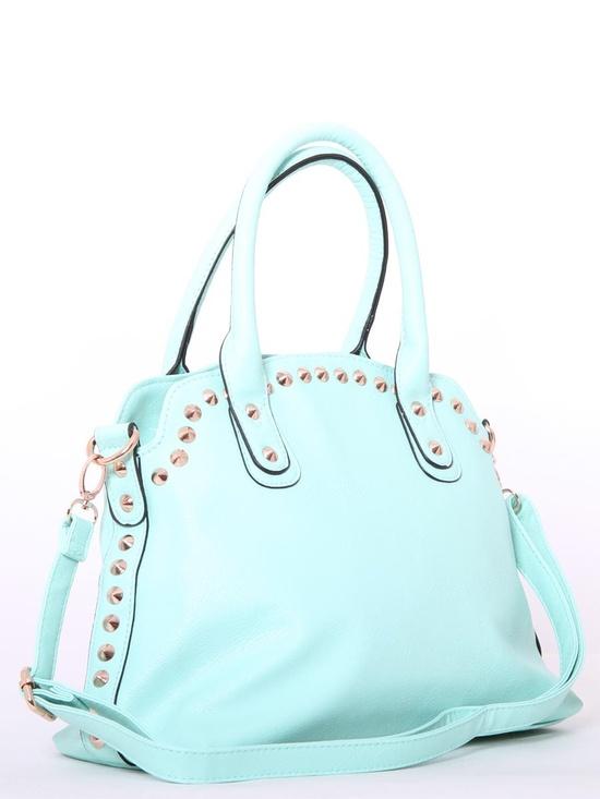 #Mint #Studded Handbag