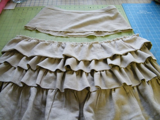 ruffle diy skirt tutorial. Cute.