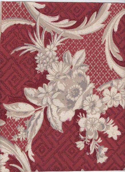 red wallpaper vintage {love it}