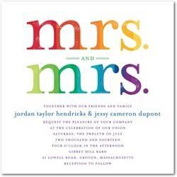 Mrs. and Mrs. wedding invitations!