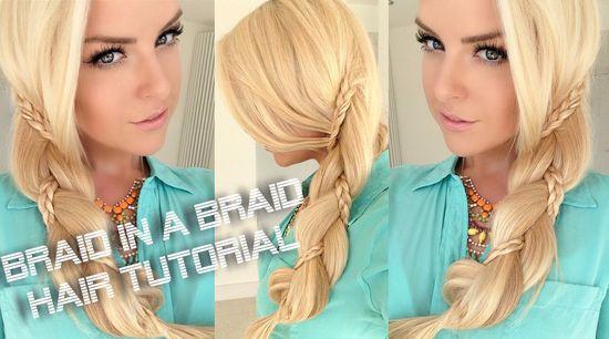 Braid In Braid Hair Tutorial