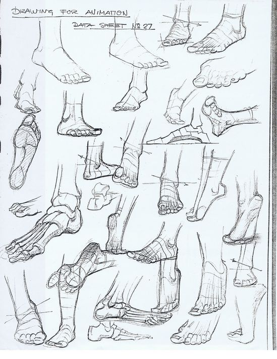Academy of Art Character and Creature Design Notes: Foot Reference
