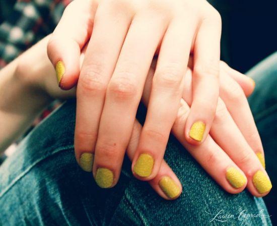 texturized nails by deborah lippmann at lela rose fall 2013 #yellow