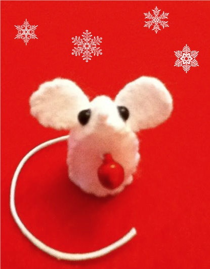 cute+and+gorgeous+miniature+felt+SNOW+MOUSE+by+nicolaluke+on+Etsy,+$6.00