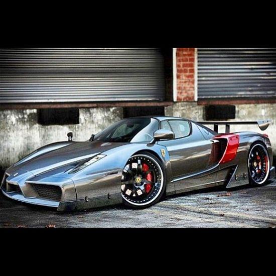 Gorgeous Chrome Ferrari Enzo