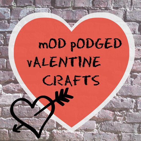 VALENTINE'S mod podge craft from the #Dollar #tree