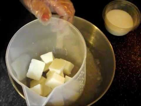 Learn how to make creamy milk cold process soap.