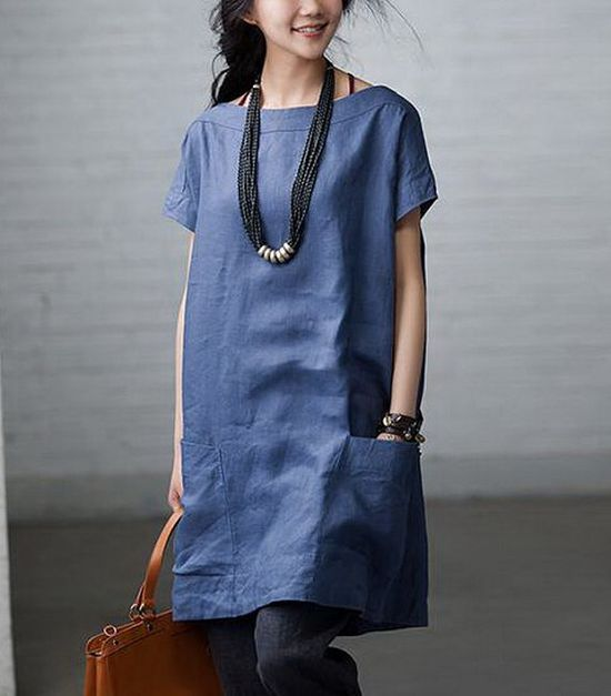 Totally+Free+Casual+Linen+Dress+by+zeniche+on+Etsy,+$57.00