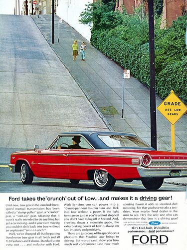 1963 Ford Advertising Road & Track July 1963