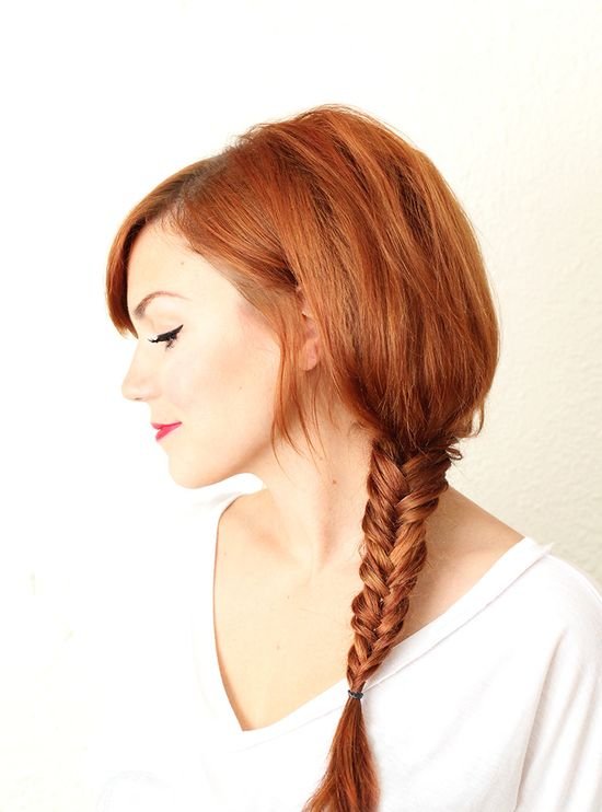Fishtail braid (click though for video tutorial!)