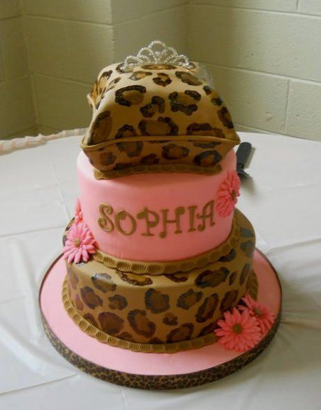 Cheetah Baby Shower Cake by valscustomcakes, via Flickr