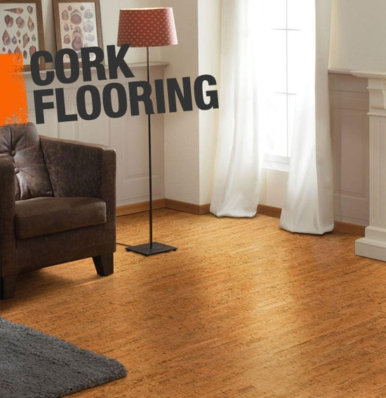 Cork is a superior flooring option because it's renewable, soft underfoot, moisture resistant, has powerful noise reduction qualities, and is easy to install.