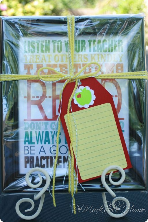 Teacher Gift...EASY and CHEAP!