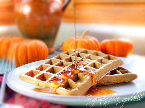 Pumpkin waffles  #vegan