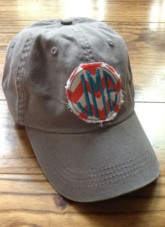 Ladies Monogrammed Hat by KBJsMonogram on Etsy, $20.00 Love this!
