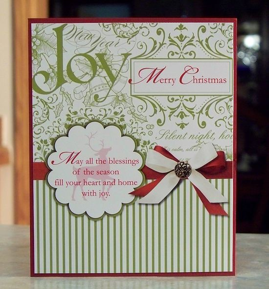 Set of 4 Handmade Christmas Cards - Stampin Up Winter Post.
