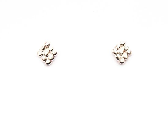 Silver Diamond Cluster Studs. $42.00