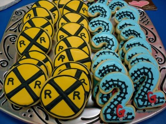 adorable train cookies