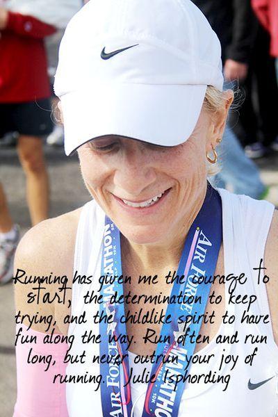 the joy of running.