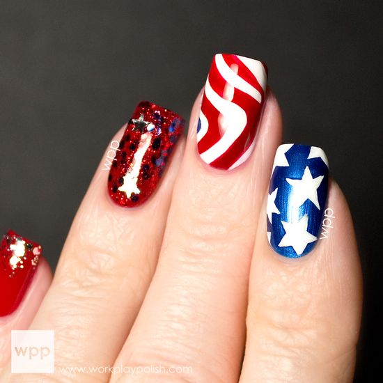 Pure Ice Stars & Stripes Collection 4th of July Nail Art