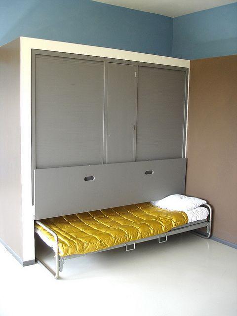 Le Corbusier House - Bedroom by teddy_qui_dit, via Flickr