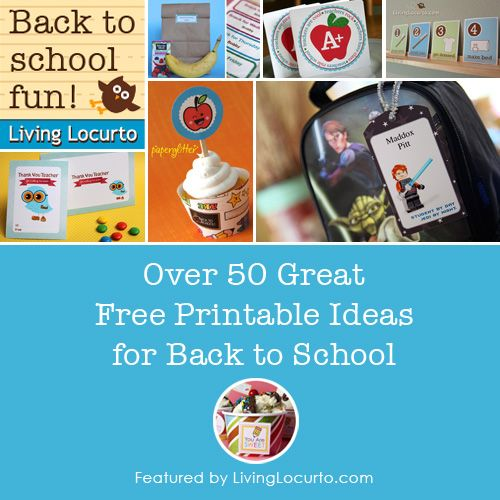 A huge list of back to school free printables. Round-up feature by @Amy Locurto