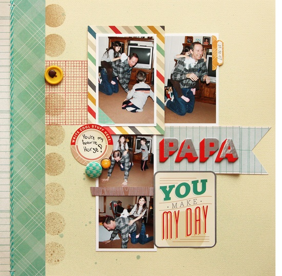 Cute scrapbooking layout by @Cindy Tobey