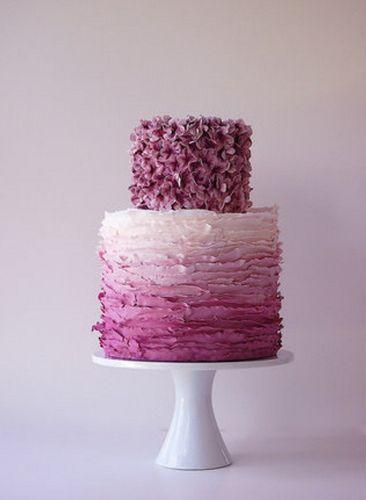 purple ombre wedding cake!!!