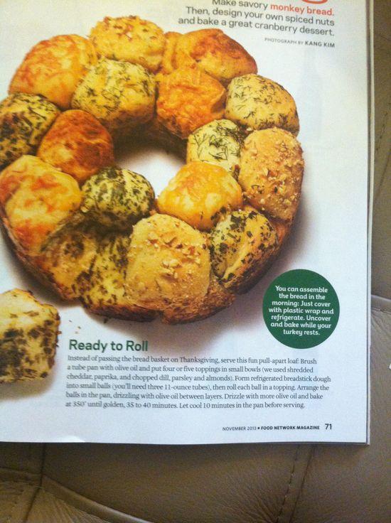 Savory Monkey Bread for Thanksgiving