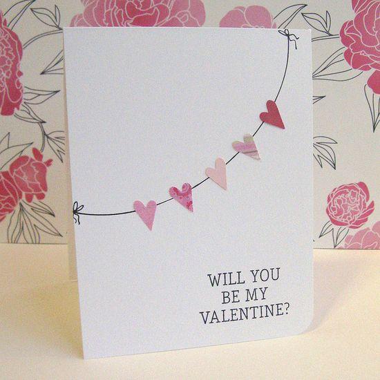 Valentine Garland Card  by ElvesInTheAttic, via Flickr
