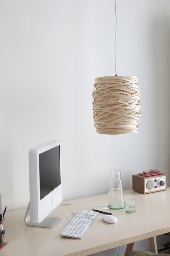 Spaghetti lamp - love the space