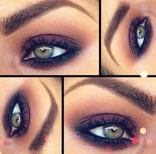 Dark eye makeup look