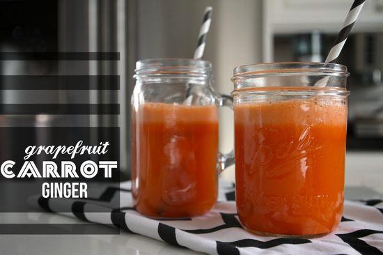 grapefruit carrot ginger juice