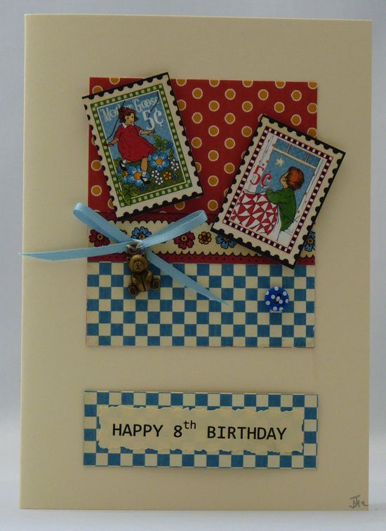 Handmade Birthday Card - Bedtime Stories £2.50