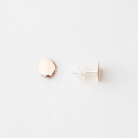 FLAT SEED STUDS ROSE GOLD $190.00