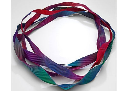 COLLECT - Gallery: Galerie Rosemarie Jäger -  Necklace Fortuny Colors Plissé by Annamaria Zanella; H 1.8 x W 200 cm; ; Photo: Marco Furio Magliani, 2012