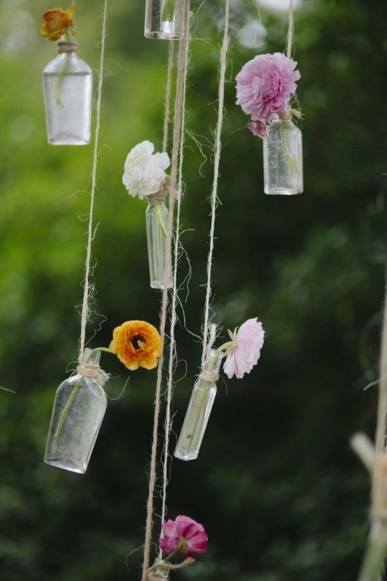 hanging flower decor