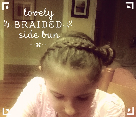 What a lovely braid style! I need to find a DIY for this style!