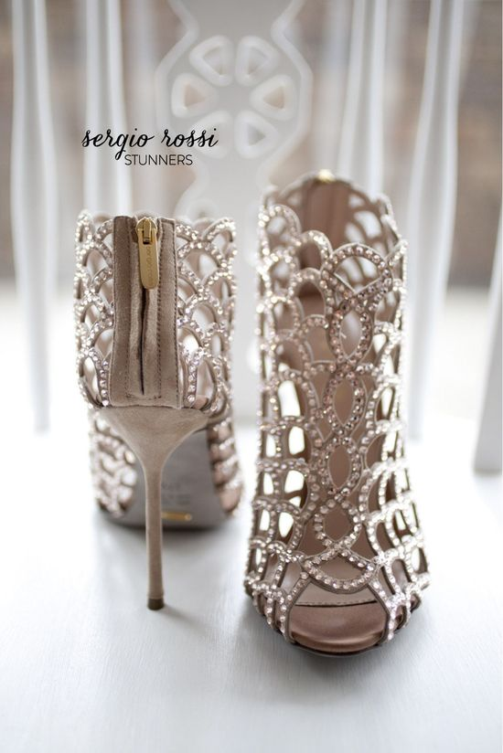Sergio Rossi stunners. #bridal #shoe #wedding. Bridal Shoe Round Up  Photography by loverslanephotography.com.au Read more - www.stylemepretty...
