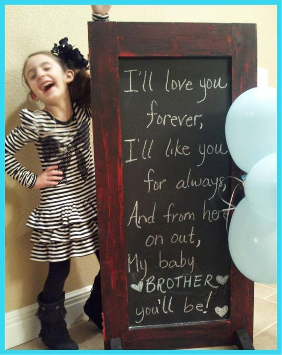 Baby reveal, love this!!!