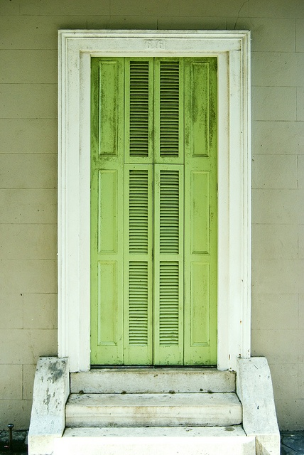 New Orleans green shutters