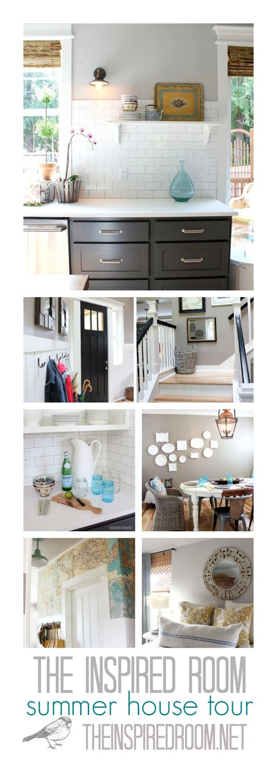 The Inspired Room Summer House Tour, come see all the projects and rooms I