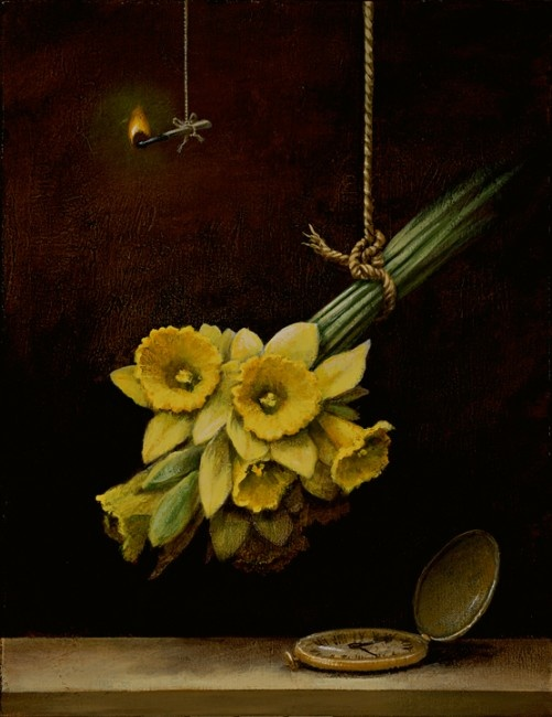 "Finally, Spring, Kevin Sloan  / 18""x14"" / acrylic on canvas"