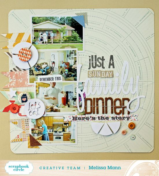 Layout by Melissa Mann using Scrapbook Circle's Home Sweet Home Kit