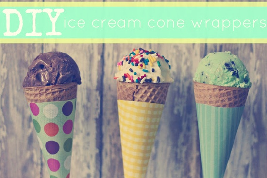 handmade ice cream cone wrappers