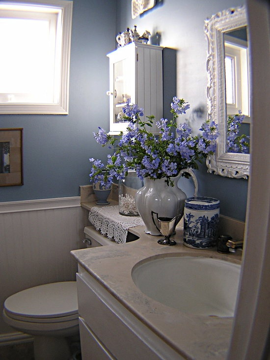 Before and After DIY Decor: Transforming the Bathroom From Eeek to Chic ~ Gorgeous redo!