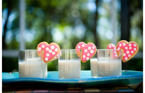 Heart-Shaped Cookies and Milk [Anniversary/Valentine's Day]