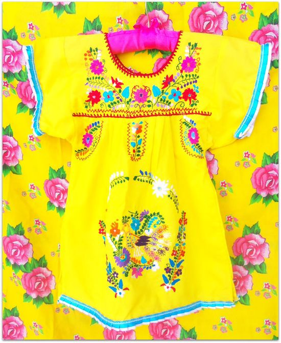 Solecito Love  Handmade Embroidered Mexican  by elizabethpalmer, $35.00